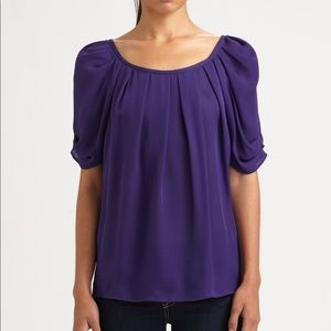 Joie Silk Eleanor Gathered Blouse Top Size S $198